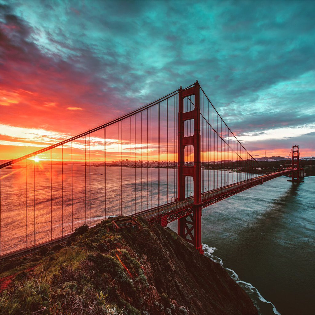 sunrise pictures golden gate - HD1024×1024